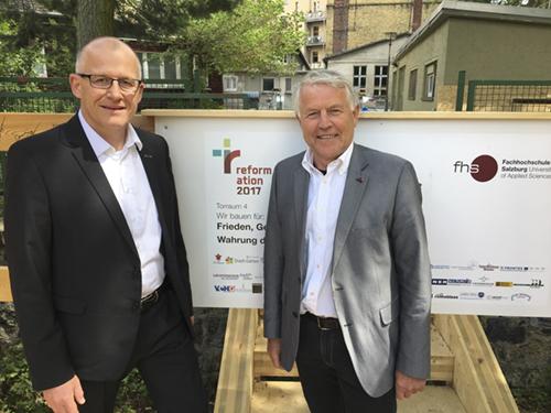 Eröffnung Wittenberg mit Holz-Henkel GF Torsten Herzel und VEH-Präsident Wolfgang Leitinger am 19. Mai 2017, ©VEH