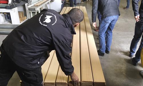 Produktion bei Mühlbauer Holz